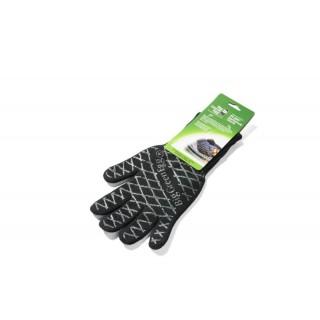 Перчатка-прихватка защитная чёрная, арамид+силикон+хлопок