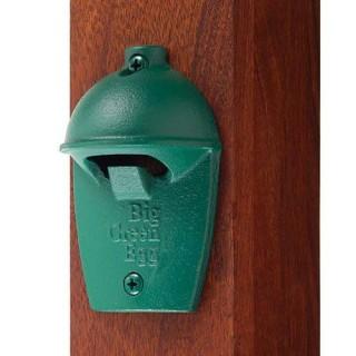 Открывалка для бутылок, зелёная чугунная настенная, в виде гриля